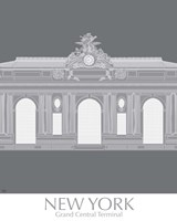 New York Grand Central Monochrome Fine-Art Print