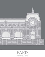 Paris Musee Dorsay Monochrome Fine-Art Print