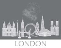 London Skyline Monochrome Fine-Art Print