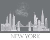 New York Skyline Monochrome Fine-Art Print