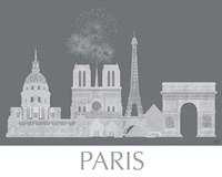 Paris Skyline Monochrome Fine-Art Print