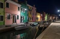 Burano Street Lights I Fine-Art Print