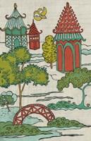 Pagoda Landscape I Fine-Art Print