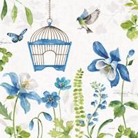 Blue and Green Garden IV Fine-Art Print