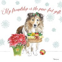 Holiday Paws III Fine-Art Print