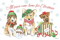 Holiday Paws I Fine-Art Print