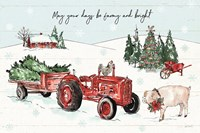 Holiday on the Farm I Farmy and Bright Fine-Art Print