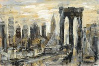 Brooklyn Bridge Gray and Gold Fine-Art Print