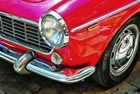 Fiat 1500 Cabriolet Red Front Detail Fine-Art Print