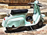 The Blue Lambretta Fine-Art Print