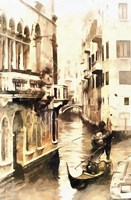 Gondoliers in Venice Vintage Fine-Art Print