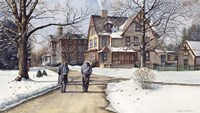 Winter Walk to Class Fine-Art Print