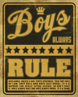 Boys Rule2 Fine-Art Print