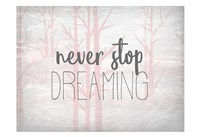Never Stop Dreaming Pink Fine-Art Print