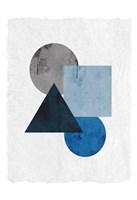 Blue Shapes 1 Fine-Art Print