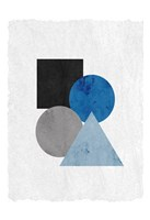 Blue Shapes 2 Fine-Art Print