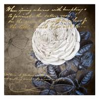 White Bloom Navy 2 Fine-Art Print
