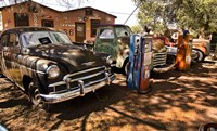 Old Cars Trucks Route 66 Fine-Art Print