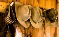 Old Hats Gun On The Wall Payson Arizona Fine-Art Print