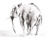 Lone Elephant Gray Crop Fine-Art Print