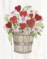 Rustic Valentine Bushel Basket Fine-Art Print