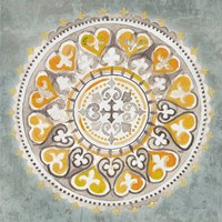 Mandala Delight III Yellow Grey Framed Print