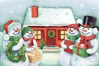 Classic Snowmen III Fine-Art Print