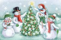 Classic Snowmen IV Fine-Art Print
