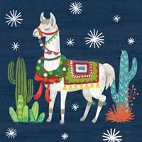 Lovely Llamas V Christmas Fine-Art Print