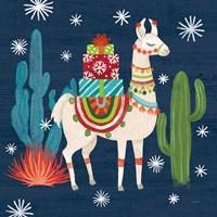 Lovely Llamas II Christmas Fine-Art Print