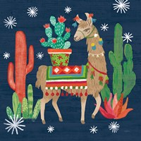 Lovely Llamas III Christmas Fine-Art Print