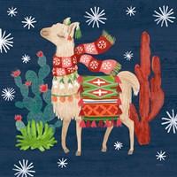 Lovely Llamas IV Christmas Fine-Art Print