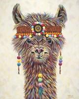 Hippie Llama II Framed Print