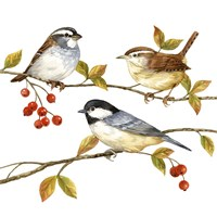 Birds & Berries I Fine-Art Print