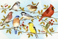 Birds & Berries V Fine-Art Print