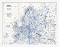 Europe in Shades of Blue Fine-Art Print