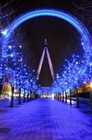 The London Eye at Christmas Fine-Art Print