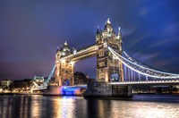 Tower Bridge at Night Fine-Art Print
