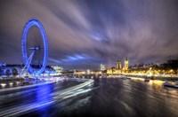 Light Trails Up The Thames Fine-Art Print