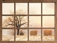 View of Winter Fields Fine-Art Print