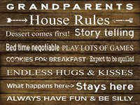 Grandparents House Rules Fine-Art Print
