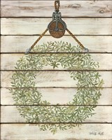 Pully Hanging Wreath Fine-Art Print