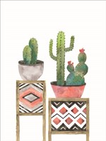 Cactus Tables with Coral Fine-Art Print