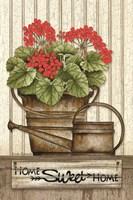 Home Sweet Home Geraniums Fine-Art Print