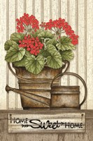 Home Sweet Home Geraniums Fine-Art Print