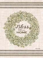 Bless This Home Wreath Fine-Art Print
