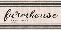Farmhouse Happy House Fine-Art Print