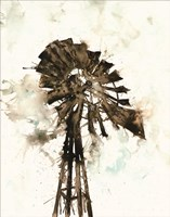 Watercolor Windmill Fine-Art Print