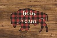 Born to Roam Bison Framed Print