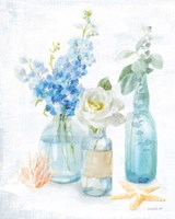 Beach Cottage Florals II Fine-Art Print